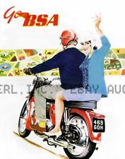 1963 BSA Motorcycle Vintage Picture Poster Print Image ca 8 x 10 print prent