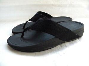 FitFlop Men's Black Thong Flip Flop Sandals Size EU 41 US 9