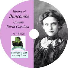 BUNCOMBE County North Carolina NC - History Genealogy Asheville -15 Books CD DVD