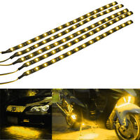 Lot5 Yellow 15 LED 30CM Car Grill Flexible Waterproof Light Strip SMD 12V Sales