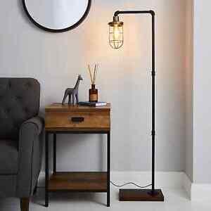 Milas Black Pipe Industrial Floor Lamp NEW FREE NEXT DAY P&P (K)