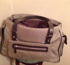 Bath and Body Works Tweed Herringbone Carry On Large weekend travel bag Tote