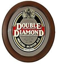 Vintage Double Diamond Original Burton Ale Beer Mirror Sign Bar Advertising Wood