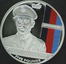 2010 Jersey Battle of Britain silver proof £5 coin/COA - Bob Tuck