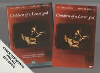 CHILDREN OF A LESSER GOD DVD Horror Movie LIKE NEW WITH INSERTS WILLIAM HURT