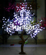 White 5ft Christmas Tree Light Simulation Cherry Blossom Tree with Natural Trunk