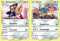 Rebel Clash - Legendary Pokemon Card Set - Zacian Zamazenta 139/192 & 140/192
