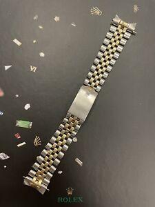 Rolex Datejust 36mm Mens 14k Yellow Gold Jubilee Bracelet 6252H 20mm Band 1601