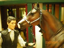 Jaapi BLACK & SILVER halter w/lead - fit Breyer traditional, not for real horses