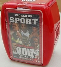 WORLD OF SPORT TOP TRUMPS QUIZ Official Top Trumps Quiz Card Family Fun Game