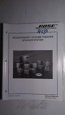 New listing bose acoustimass 10 speaker system stereo service manual original repair book