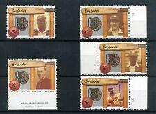 BARBADOS 1988  West Indian cricket  Set of 5  SG854-858  MNH / UMM