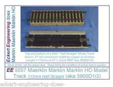 EE 5057 EXC Marklin HO Straight Model Track 3900D1/2 in EXC Condition, 1 Piece