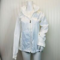 Columbia Size Medium Womens Jacket White Lightweight Packable Hood