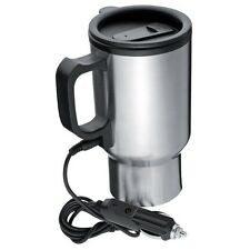 Stainless Steel Thermal Electric Auto Heated 12V In Truck Van Travel Car Mug Cup