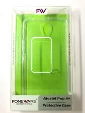 Foneware Alcatel Pop 4 + Custodia in Silicone Cover Posteriore Protettiva chiaro