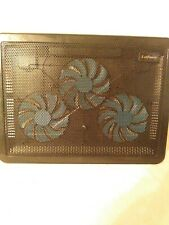"USB 9-17"" Notebook Laptop PC Cooling Pad Fan Adjustable Stand Cooler Black"