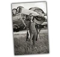 "WW2 Photo Avia Pinup Aircraft Nice Girl sexy woman pilot Size ""4 x 6"" inch A"