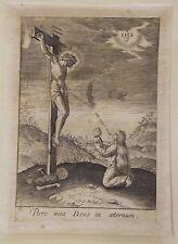 Christ en croix, gravure sur cuivre de Karel van Mallery, vers 1613