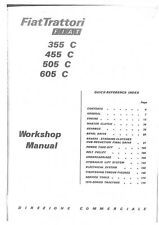 Fiat Crawler Tractor 355C 455C 505C 605C Workshop Service Manual