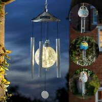 Kingfisher Solar Powered Bird Cage Crackle Glass Globe Led