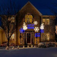 Holiday Outdoor Light Projector LED Color Frozen Let It Snow Snowflake Snowman
