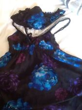 VERY SEXY SHEER BABY DOLL NIGHTDRESS & PANTIES SET SIZE 12  LOVELY QUALITY GIFT