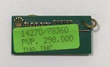 I No Date 14270 Steel 78360 #1 00006000 Rolex Green Tag Hangtag Oyster Swimpruf Explorer