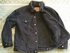 "🇺🇸 LEVIS Black Sherpa Trucker Jacket (XL) 44""-46""😎"