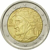 [#582349] Italia, 2 Euro, 2002, MBC, Bimetálico, KM:217