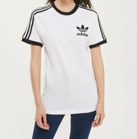 Women Adidas California Trefoil T-shirt short sleeve White