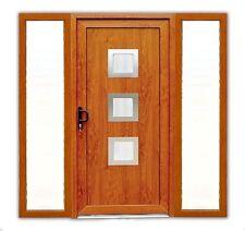 Haustür ATF Haustür Modell °Maja°in golden oak mit 2 Seitenteile PVC