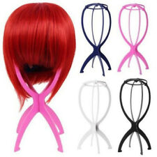 Folding Wig Hair Display Stand Dummy Head Mannequin Hair Hat Cap Plastic Holder