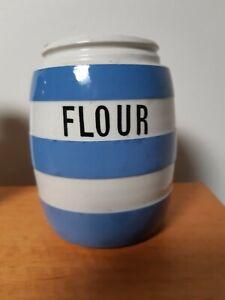 T.G Green Blue & White Kitchen Ware Flour Shaker
