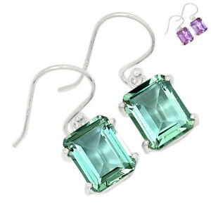 Colorchange Alexandrite (Lab.) 925 Sterling Silver Earring Jewelry BE59786