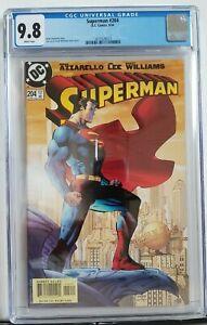 Superman #204 CGC 9.8 Graded classic Jim Lee cover DC Scott Williams 1