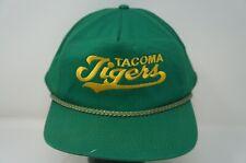 Rare VTG DESIGNER PRO Tacoma Tigers Drawstring Snapback Hat Cap 80s 90sRainiers