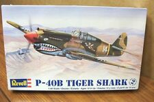 REVELL P-40B TIGER SHARK 1/48 SCALE AIRCRAFT MODEL KIT