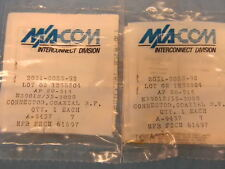 (2) NEW M/A-Com M39012/55-3028 Mil-Spec SMA(m) RF Coaxial Connector