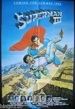 SUPERMAN III ORIG US 1 SHEET TEASER POSTER CHRISTOPHER REEVE RICHARD PRYOR  1983
