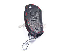 Leather Remote Key Chain Holder Case Cover Fob for AUDI A4 A5 A6 Q7 2008+ 3BT