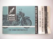 NGK Spark Plug for honda motorcycles brochure vintage leaflet 50 55 125 250 300
