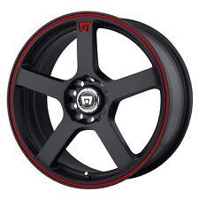 MOTEGI RACING MR116 MR11677046740 17X7 40MM OFFSET 5X112/4.5 M-BLACK-RED RIM