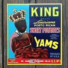 Vintage Original KING BRAND SWEET POTATOES Citrus Crate Box Labels NOS Yam
