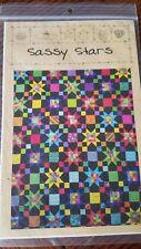 Sassy Stars Quilt Pattern Pieced JW