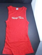 SHANIA TWAIN CONCERT TOUR TANK TOPS- red long-ribbed RED+lACE UP SEXY TANK-BLACK