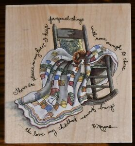 Stamps Happen There Are Places In My Heart Rocking Chair D. Morgan Rubber Stamp