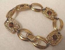 Vintage Bracelet Sarah Coventry Amber Rhinestones