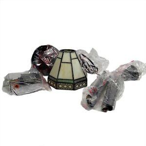 Hampton Bay Classic Collection Tiffany Style Mini Pendant Lamp Open Box 749724
