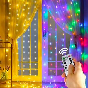 10ft 300 LED Xmas Window Curtain Icicle String Lights Party Wedding Wall Decor